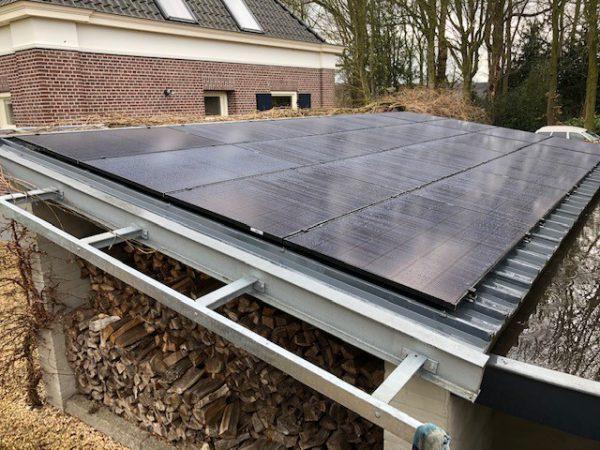 Zonnepaneelinstallatie met energieopslagmogelijkheden